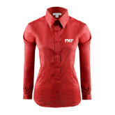 Ladies Red House Red Long Sleeve Shirt-PHP