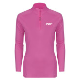 Ladies Syntrel Interlock Raspberry 1/4 Zip-PHP