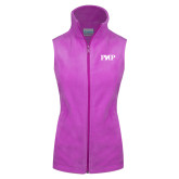 Columbia Ladies Full Zip Lilac Fleece Vest-PHP