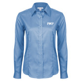 Ladies Red House Light Blue Long Sleeve Shirt-PHP