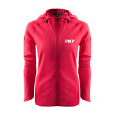 Ladies Tech Fleece Full Zip Hot Pink Hooded Jacket-PHP