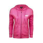 ENZA Ladies Fuchsia Fleece Full Zip Hoodie-PHP