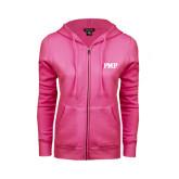ENZA Ladies Fuchsia Fleece Full Zip Hoodie-PHP