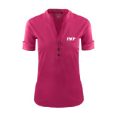 Ladies Ogio Deep Berry Fashion Henley-PHP