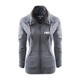 Ladies Sport Wick Stretch Full Zip Charcoal Jacket-PHP