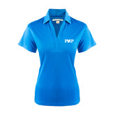 Ladies Light Blue Performance Fine Jacquard Polo-PHP