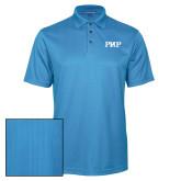 Light Blue Performance Fine Jacquard Polo-PHP