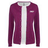 Ladies Deep Berry Cardigan-PHP