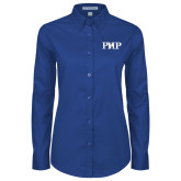 Ladies Royal Twill Button Down Long Sleeve-PHP
