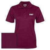 Ladies Maroon Dry Mesh Polo-PHP
