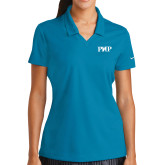 Ladies Nike Golf Dri Fit Teal Micro Pique Polo-PHP