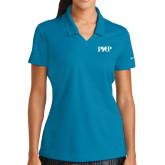 Ladies Nike Golf Dri Fit Teal Micro Pique Polo-PHP