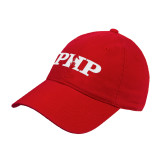 Red Twill Unstructured Low Profile Hat-PHP