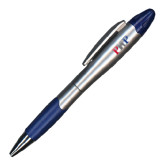 Silver/Blue Blossom Pen/Highlighter-PHP