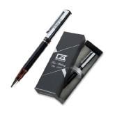 Cutter & Buck Black/Tortoise Shell Draper Ballpoint Pen-PHP Engraved