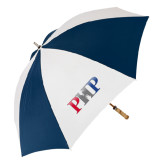 62 Inch Navy/White Umbrella-PHP