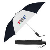 42 Inch Slim Stick Black/White Vented Umbrella-PHP