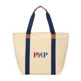 Natural/Navy Saratoga Tote-PHP