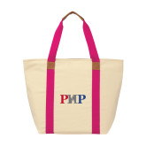 Natural/Tropical Pink Saratoga Tote-PHP