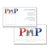 White Business Cards w/Photo-PHP