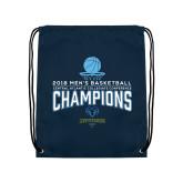 Navy Drawstring Backpack-2018 Mens Basketball Champions