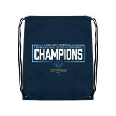 Navy Drawstring Backpack-2018 Mens Basketball Champions - Box