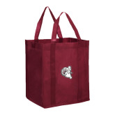 Non Woven Maroon Grocery Tote-Ram Head