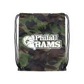 Camo Drawstring Backpack-PhilaU Rams