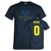 Philadelphia Navy T Shirt-Primary Mark, Custom Tee w/ Name and #