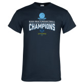 Navy T Shirt-2018 Mens Basketball Champions