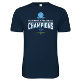 Next Level SoftStyle Navy T Shirt-2018 Mens Basketball Champions