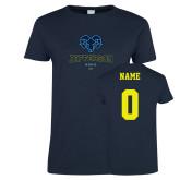 Philadelphia Ladies Navy T Shirt-Primary Mark, Custom Tee w/ Name and #
