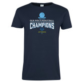 Ladies Navy T Shirt-2018 Mens Basketball Champions