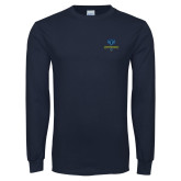 Philadelphia Navy Long Sleeve T Shirt-Primary Mark
