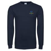 Philadelphia Navy Long Sleeve T Shirt-Primary Mark