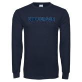 Philadelphia Navy Long Sleeve T Shirt-Jefferson