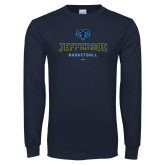 Philadelphia Navy Long Sleeve T Shirt-Basketball