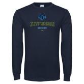 Philadelphia Navy Long Sleeve T Shirt-Soccer