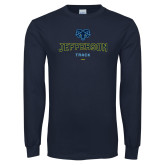 Philadelphia Navy Long Sleeve T Shirt-Track
