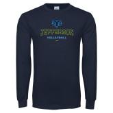Philadelphia Navy Long Sleeve T Shirt-Volleyball