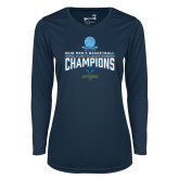 Ladies Syntrel Performance Navy Longsleeve Shirt-2018 Mens Basketball Champions
