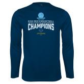 Performance Navy Longsleeve Shirt-2018 Mens Basketball Champions