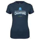 Ladies Syntrel Performance Navy Tee-2018 Mens Basketball Champions