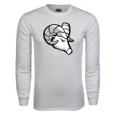 White Long Sleeve T Shirt-Ram Head