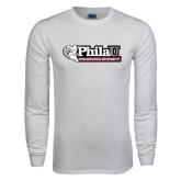 White Long Sleeve T Shirt-Formal Athletics Logo