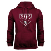 Maroon Fleece Hoodie-Philadelphia Rams Softball Plate Design