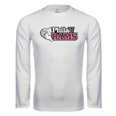 Syntrel Performance White Longsleeve Shirt-PhilaU Rams