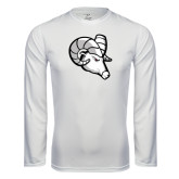 Syntrel Performance White Longsleeve Shirt-Ram Head