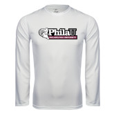 Syntrel Performance White Longsleeve Shirt-Formal Athletics Logo
