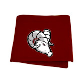 Maroon Sweatshirt Blanket-Ram Head